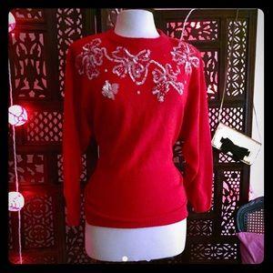 Sequin vintage sweater 50s